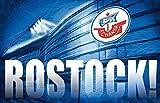 Zimmerflagge F.C. Hansa Rostock - 90 x 140 cm + gratis Aufkleber, Flaggenfritze®