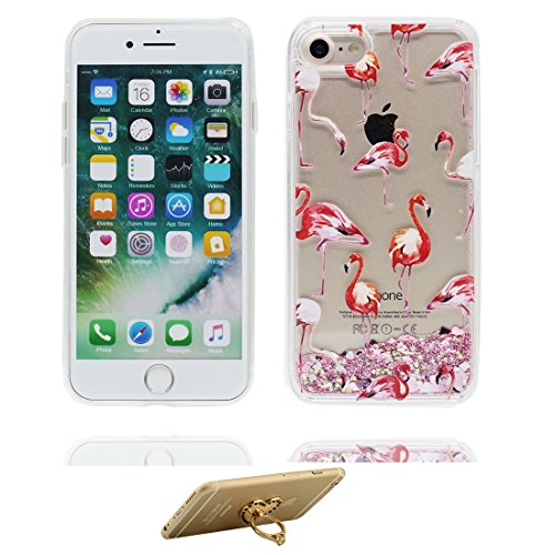 "iPhone 7 Coque, Skin Hard Clear étui iPhone 7, fée Design Glitter Bling Sparkles Shinny Flowing Apple iPhone 7 Case Cover 4.7"", résistant aux chocs et ring Support # 3"
