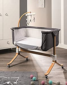 Co-Sleeping Crib - Mattress, Mosquito net and Carousel Included - You & Me - Picci - 96 x 57 x 76 cm