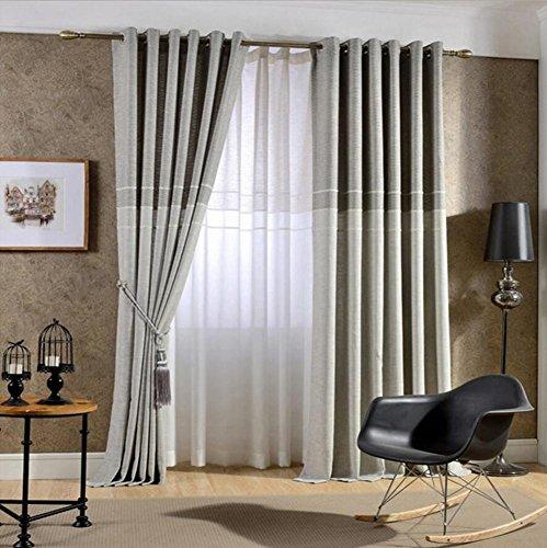 Cortinas Jacquard lino fino grueso salón ventana