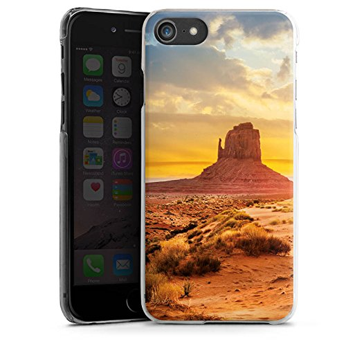 Apple iPhone X Silikon Hülle Case Schutzhülle Sonnenuntergang Amerika Wüste Hard Case transparent