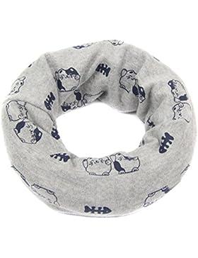 TININNA Autunno e Invernale Moda Sciarpa di cotone stampato fumetto gattino stampe Sciarpe per bambini Bavaglini...