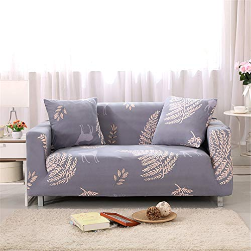 SHFOLSFH 1/2/3/4 Seater Flexible Printing Sofa Cover Elastic Stretch Couch Cover Love-Seat Sofa Cover Home Decoration Cushion Pillow Case B6091 4 seat 235-310cm (Sofa Love Seat Cover Rot)