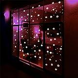 Nuit de Noël lumière flocons de neige autocollants fluorescents fenêtre amovible décoration de la chambre Creative dortoir murale Stickers