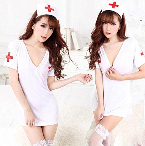 SQDQNUR-Donna tentazioni estreme plus per adulti di dimensione uniforme infermiera sexy sexy intimo calzature