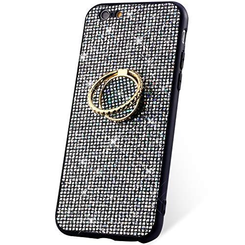5983f0453ac JAWSEU Funda Brillante Brillo Compatible con iPhone 6/6S Suave TPU Silicona  TPU + PC