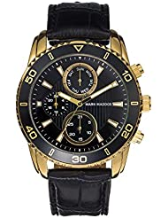 Mark Maddox HC6006-57 - Reloj de cuarzo para hombre, correa de poliuretano color negro