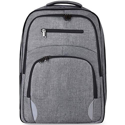 50L Reise Laptop Rucksack USB Ladeanschluss College Schule Computer Tasche für Frauen & Männer passt 17,3 Zoll Laptop Notebook Wasserdicht mit Verstecken Schuhe Tasche (schwarz) (Grau) -