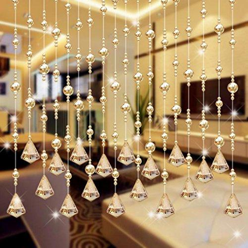 Best Dekoration für Ihr Zuhause 1LUXUS Glas Perlen Tür-Quaste Duo Perlen Vorhang Hochzeit Trennwand Room Decor (Tür-vorhänge Perlen)