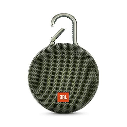 JBL Clip 3 Bluetooth Lautsprecher in Grün – Wasserdichte, tragbare Musikbox mit praktischem Karabiner – Bis zu 10 Stunden kabelloses Musik Streaming