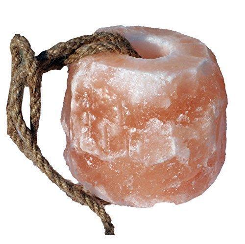 Kristallsalz Leckstein mit Kordel 1-1,5 kg, aus dem Vorgebirge des Himalaya