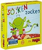 Haba 4465 - Socken zocken, schnelles Suchspiel für 2-6 Spieler von 4-99 Jahren, blitzschnelles Reaktionsspiel mit Tipps zur Sprachförderung, Spiel für die ganze Familie