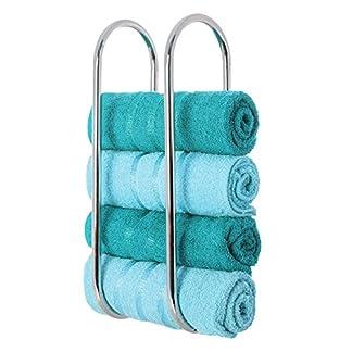 livivo® Oceana de pared en cromado baño toallero soporte estante de almacenamiento