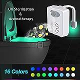 WC Nachtlicht - UV Sterilization Toilette Licht Lampe Led Bewegung Sensor Aktiviert WC Schüssel Licht mit Aromatherapie, 16 Farben Wechsel Passend für für Kinder Eltern Badezimmer Hause