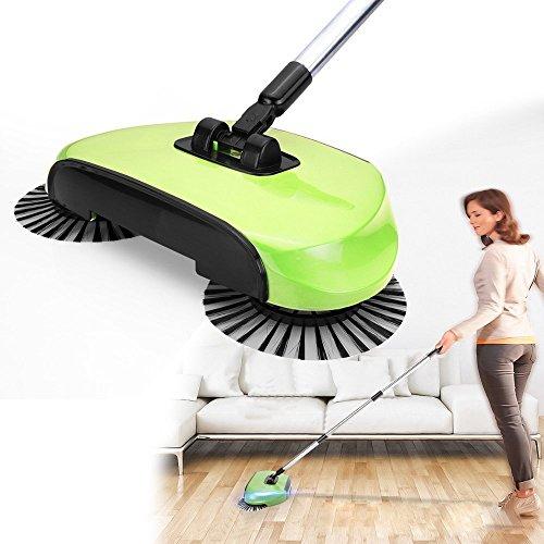 Travelmall Roboter-Staubsauger zum Fegen ohne Strom Haushalts-Hand Besen, Kehrschaufel und Mülleimer 3 in 1 (Grün)