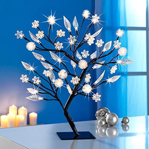Unbekannt LED-Baum 4-Jahreszeiten,1 Dekorationsset 212 Teile, Frühling, Sommer, Herbst, Winter, Dekoration, Metall, Kunststoff, Polyester, 12 x 12 x 45 cm