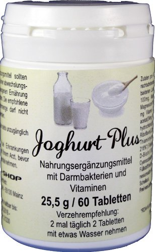 Acidophilus-Joghurt Plus - 60 Tabletten - harmonisieren, regulieren und stabilisieren die Darmflora