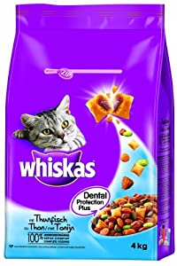 Whiskas Dry Tuna 4 kg (Pack of 3, Total 12KG)