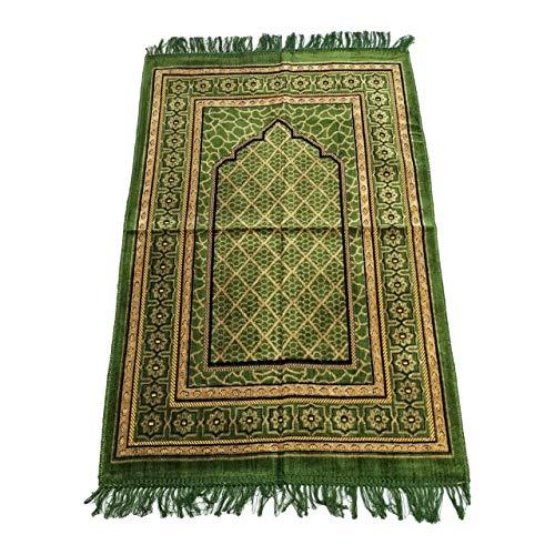weicher Gebetsteppich 110 x 70 cm, mit Muster in grün
