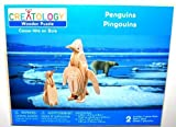 Wooden Puzzle (3-D): Penguins, One Large & One Small (2 Puzzles) by Fabrique en Chine