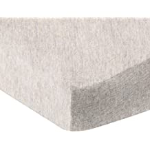 AmazonBasics Heather Jersey Fitted Bedsheet for Cribs, Oatmeal