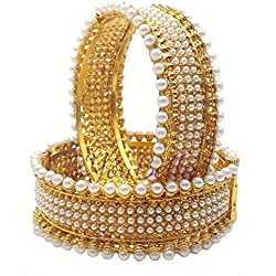 Youbella Gold-Plated Bangle Set For Women