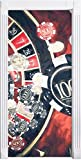 Stil.Zeit Möbel Las Vegas Casino Roulette Kunst Pinsel Effekt als Türtapete, Format: 200x90cm, Türbild, Türaufkleber, Tür Dek