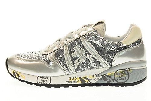 PREMIATA scarpe donna sneakers basse DIANE 1991 Argento