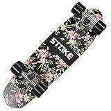 STOKE Ahorn Cruiser Shortboard Graphic Skateboards Komplett Board 26x7 Zoll( 67x18 cm) Blumen