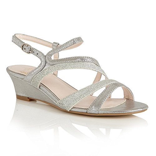 Lotus 50586 Hazeline Women's Wedge Sandals in Gold silver