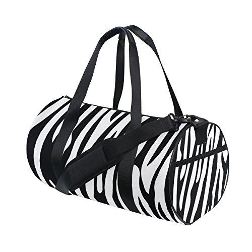 Ahomy Schwarz Weiß Zebra Streifen Turnbeutel Sporttasche Reisetasche Reisetasche Reisetasche Wochenende Reisetasche