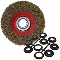 OTOTEC Silverline - Cepillo de Alambre para Rueda de Acero Circular para Limpieza de Banco, Molinillo de 12,7 cm / 15,2 cm / 20,3 cm, 200 mm