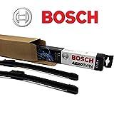 BOSCH Aerotwin A 640 S Scheibenwischer SET / Wischerblatt Satz Wischer Vorne 725 / 725 mm + 2 Ersatzgummis + 2x T10 Lampen