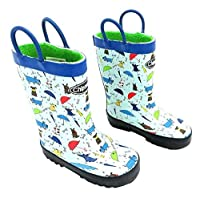 Chipmunks Wellington Boots, Waterproof Raindogs Grey, Navy, Red