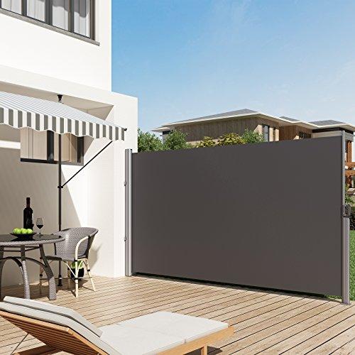 Seitenmarkise Balkon | Songmics 180 X 350 Cm H X L Seitenmarkise Fur Balkon Und Terrasse