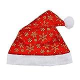 HPEDFTVC Heißer Kreative 3 Stück Weihnachtsfeier Weihnachtsmütze Jahr Home Decor Cap Für Weihnachtsmann Kostüm Weihnachtsmütze Party Supplies, Style4
