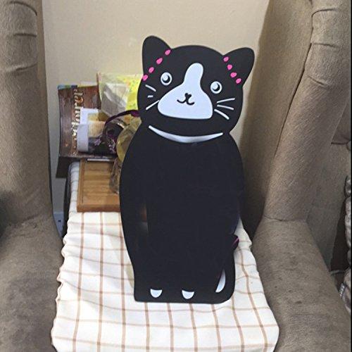 B & Y Mini cavalletto in legno gatto stile tavolo lavagna/lavagna segno Display/Messaggio cancellabile Memo Board