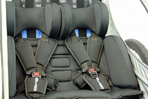 Sitzpolster Babysitz für Qeridoo Fahrradanhänger Sportrex2, Speedkid2, KidGoo2 - 2