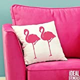 tropisch Flamingo außenschablone. Farbe Wände Stoffe & Möbel Flamingo Muster Heim Dekoration Kunst bastelarbeiten. ideal Stencils LTD - halb geschliffen Durchsichtig Schablone, XS/9X18CM