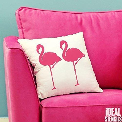 tropisch Flamingo außenschablone. Farbe Wände Stoffe & Möbel Flamingo Muster Heim Dekoration Kunst bastelarbeiten. ideal Stencils LTD - halb geschliffen Durchsichtig Schablone, S/13X26CM