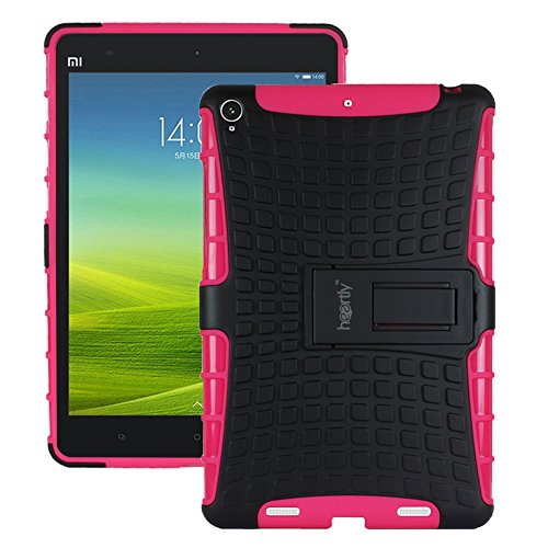 Heartly Flip Kick Stand Spider Hard Dual Rugged Armor Hybrid Bumper Back Case Cover For Xiaomi Miui Mi Pad 7.9 - Cute Pink