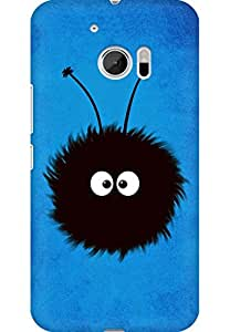 AMEZ designer printed 3d premium high quality back case cover for HTC One M10 (Blue dazzled bug)