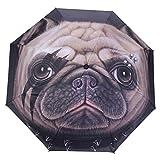 WILLIAM&KATE Ombrello automatico ombrello creativo ombrello testa di cane ombrello di protezione UV esterno leggero pieghevole antivento