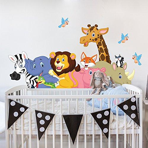 wall-art R00149 Wandaufkleber für Kinder Lustige Freunde, Wallpaper, Colorful 120 x 30 cm