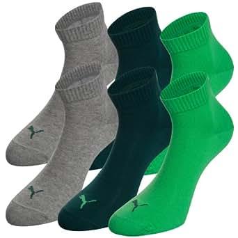 PUMA Unisex Quarters Socken Sportsocken 6er Pack poison green 665 - 43/46
