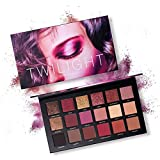 Paleta de sombras de ojos, Angmile Matte Eyeshadow Palette & Glitter Eyeshadow 18 Colores Combination Smoky with Shimmer Sombra de ojos Twilight & Dusk Makeup Palette Cosmetics