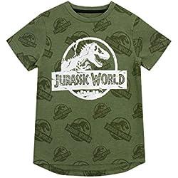 Jurassic World Camiseta Para Niño Logo Verde 5-6 Años