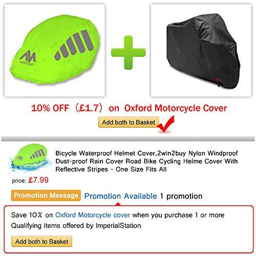 2win2buy Helmüberzug, Fahrrad Wasserdicht Helmregenüberzug Regenschutz Helmschutz mit Reflektierendem Aufdruck Wind & Sonne Schutz