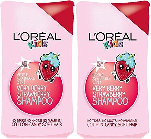 2x L 'Oreal Paris Kids Extra sanfte 2-in-1sehr Berry Erdbeere Shampoo, 250ml