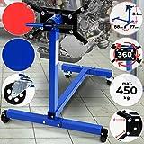 TIMBERTECH Cavalletto per Motore - Fino a 450kg, Piastra di Inserimento Girevole a 360°, Resistente, in Metallo - Supporto Trasmissione, Sollevatore, Sostegno Motore